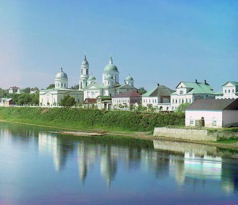 Воскресенский женский монастырь. г. Торжок, 1910 год.