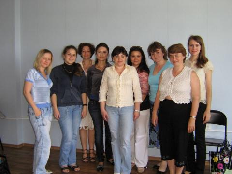 """Учасники тренинга """"Супружеское консультирование и психотерапия"""", 2-5 июня 2010 года"""