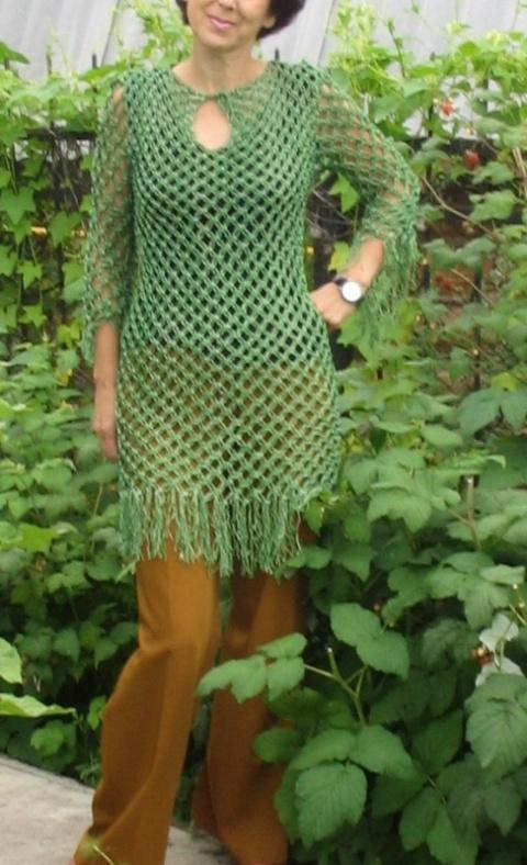 Платье, кофта макраме