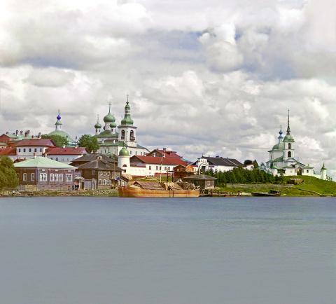 Общий вид Горицкого монастыря (дореволюционное фото)