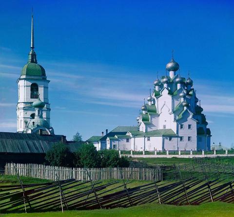 Церковь Спасителя и Покрова Богородицы. Вытегорский Погост. 1909 г.