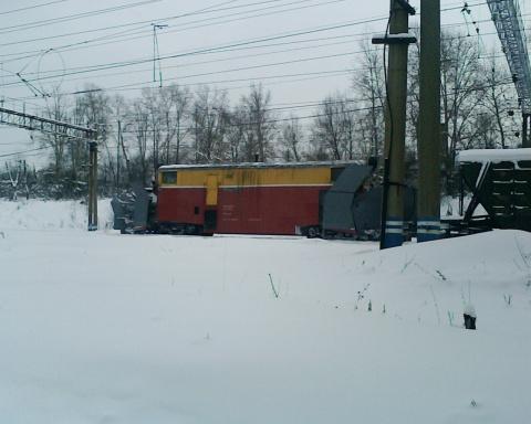 Станция Кизел зимой
