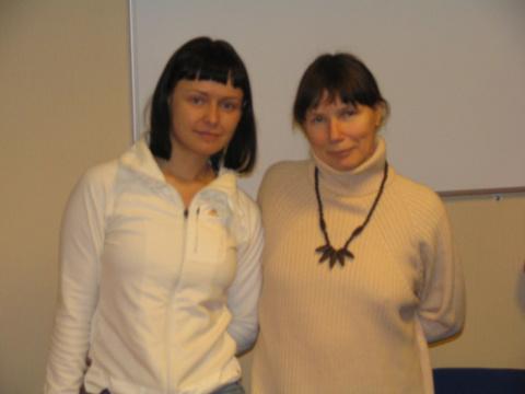 Женя Жукова и Тамара Пономарева