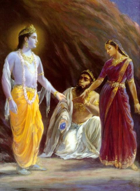 Свадьба Кришны и Джамбавати