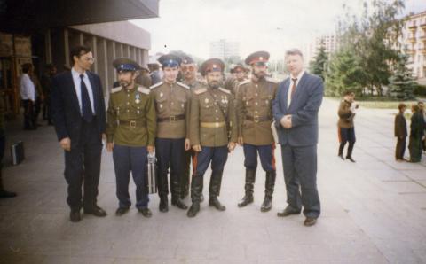 Участники круга Сибирского  Войскового казачьего общества. 26.06.1996г.