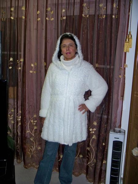 Общий вид укороченного пальто.