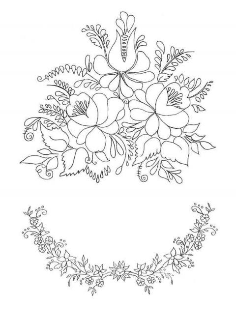Вышивка бисером цветы на ткани