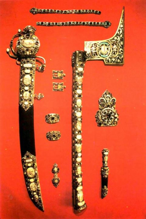 Части «Горняцкого наряда» курфюрста Иоганна Георга II