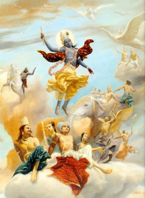 Господа Кришну прославляют великие полубоги