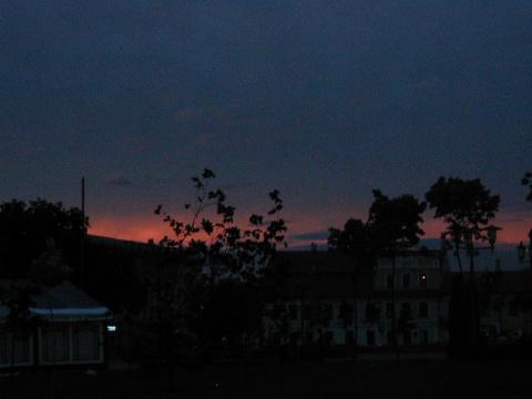 закат ,Советская  площадь