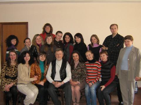 Первая группа мастер курса по позитивной психотерапии в Полтаве, апрель 2010 года