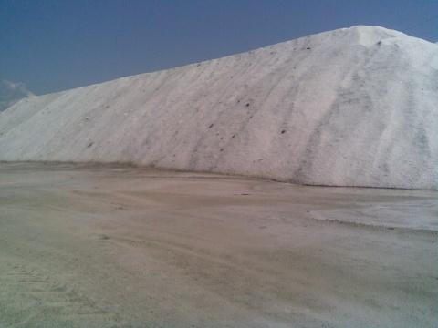 Складирование соли.