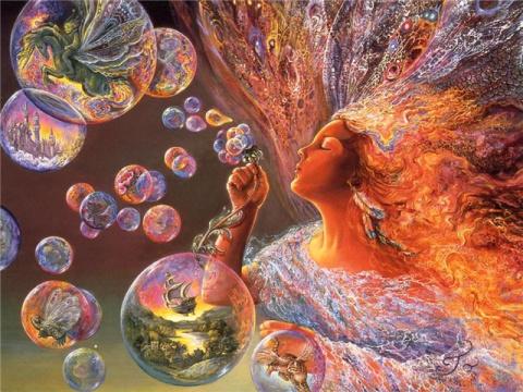 Все наши мысли- мыльные пузыри в общем мироздании Вселенной.