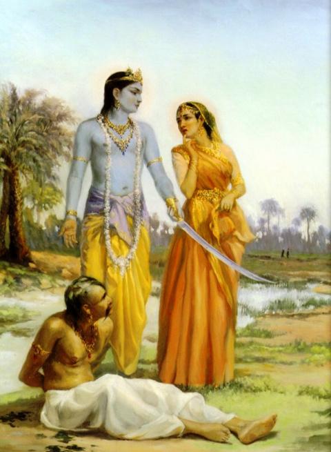 Кришна наказал Рукми за его коварство
