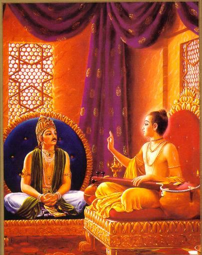 Нарада просвещает царя Прачинабархи