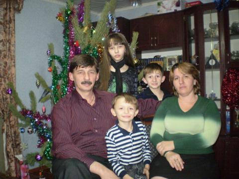 это мой муж,дочь, мои сыновья и я сама.