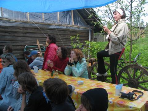 Открытие летнего лагеря.