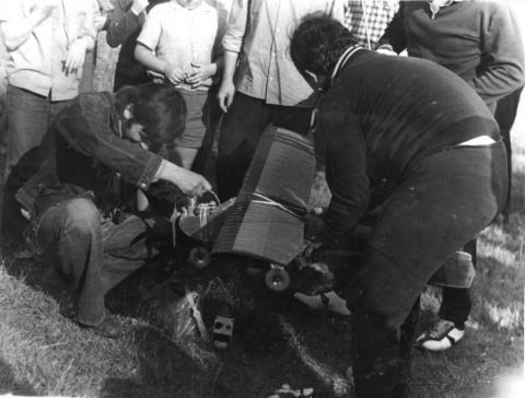 Соревнования авиамоделистов. 1976 год.