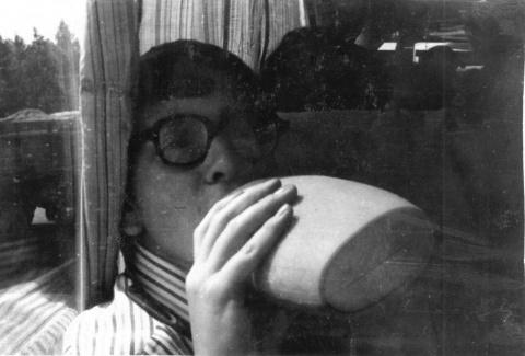 Этоя во время поездки на экскурсию в Бородино. 1977 год.