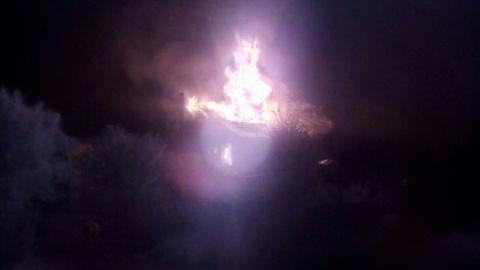 В Донецке сгорел дом из-за обстрела ВСУ
