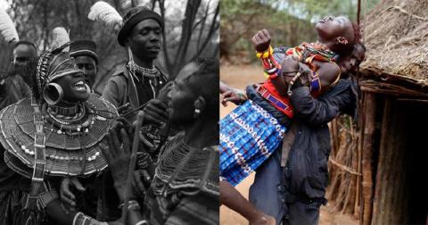 Первая брачная ночь в Африке…