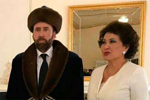 Николас Кейдж прилетел в Казахстан и  стал мемом