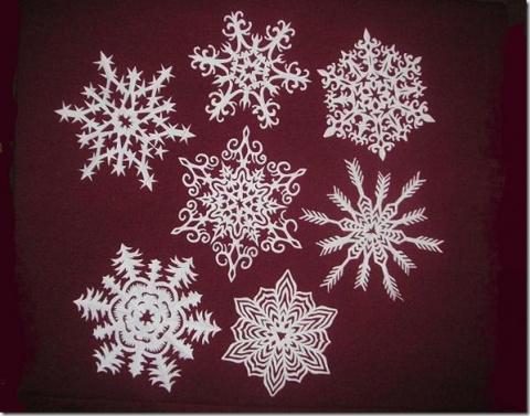 Снежинки из бумаги. Идеи и шаблоны