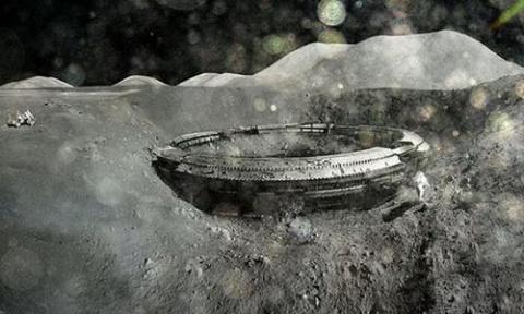 На Луне найдена летающая тарелка