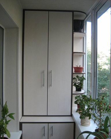 Шкафчики на балконе. Идеи дл…