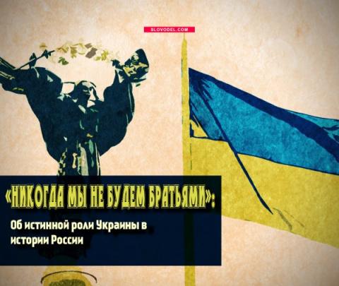 «НИКОГДА МЫ НЕ БУДЕМ БРАТЬЯМИ»: ОБ ИСТИННОЙ РОЛИ УКРАИНЫ В ИСТОРИИ РОССИИ