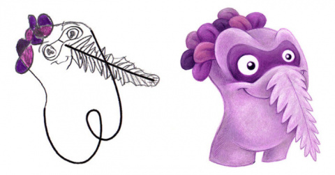 Художник превращает детские рисунки в захватывающих монстров