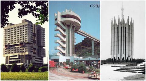 Оригинальные постройки советской архитектуры