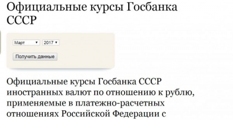 Для справки: официальный курс рубля СССР