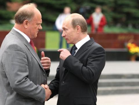 Зюганов бьет челом Путину: не обижай, царь-батюшка, пострела моего!