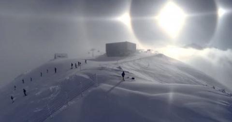 Оптические фантазии зимнего солнца