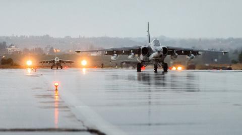 Кадры авиаудара ВКС РФ по террористам в Сирии