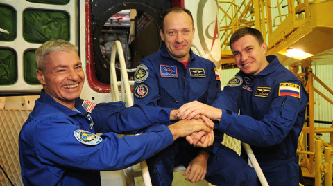 Прибытие экипажа на МКС — LIVE