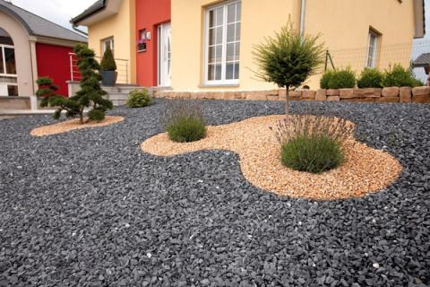 Как создать газон из камня и щебня вместо травы
