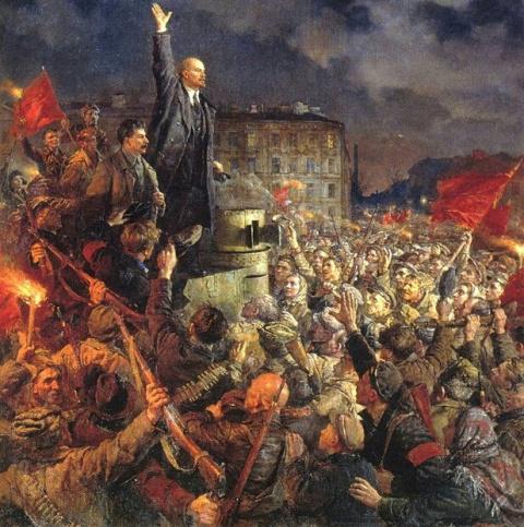 Как царские генералы Октябрь…