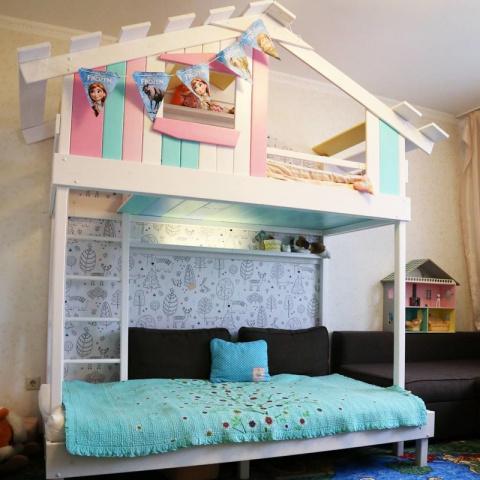 Как построить кровать-домик своими руками