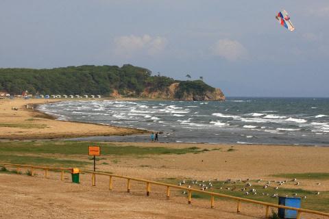 Пляж Шаморы ушел под воду