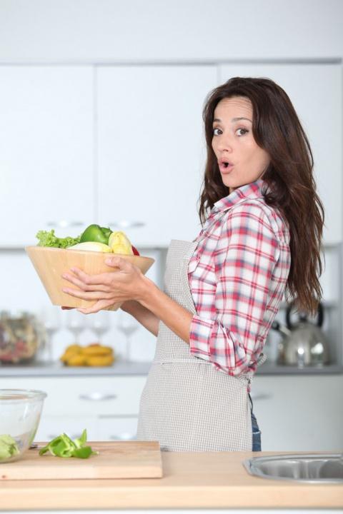 Легкий салат из креветок, ав…
