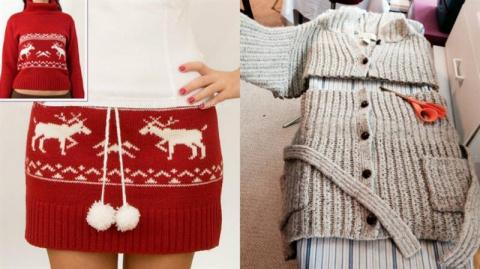 Как переделать старый свитер…