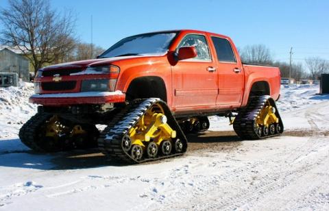 Как превратить автомобиль в снегоход