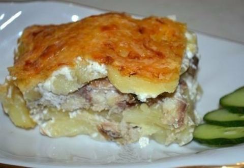 Прекрасная картофельная запеканка со скумбрией. Теперь эта рыбу, ест даже мой сын!