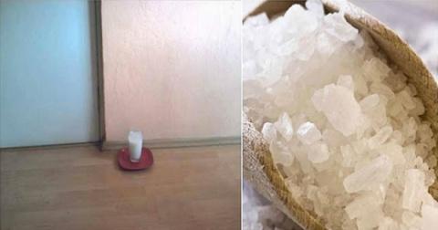 Добавьте в стакан воды соль и уксус и поставьте в любой части вашего дома