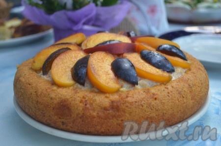 Бисквитный пирог с кремом в …
