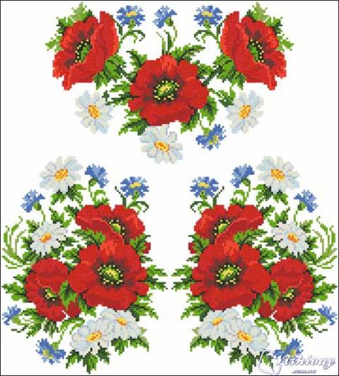 Цвети из бисера схема фото 517