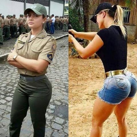 Девушки в форме и без нее