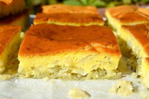 Заливной пирог с капустой.  Любители пирогов с капустой будут в восторге от...